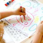How do painting sessions help in boosting children's development