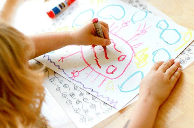 How do painting sessions help in boosting children's development?